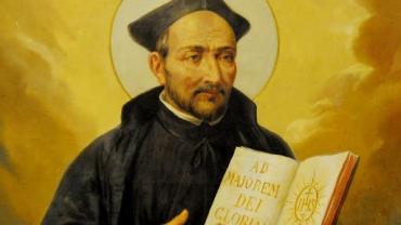 Portrait de St Ignace auteur des Exercices spirituels.
