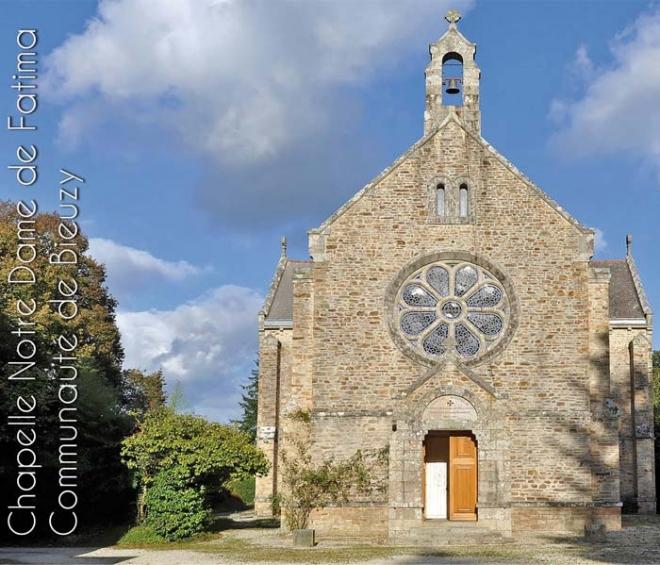 Chapelle N D de Fatima, Maison d'accueil CPCR, où sont donnés les Exercices de St Ignace