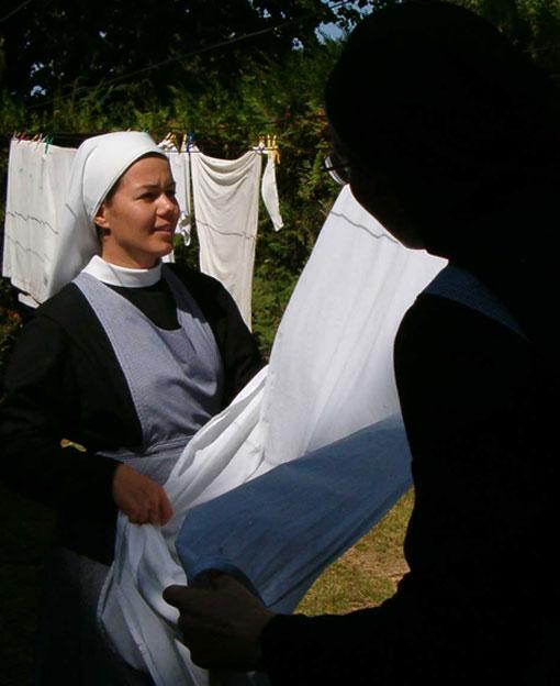 """Les Soeurs s""""occupent de l'entretien de la Maison où sont données les retraites spirituelles de St Ignace."""