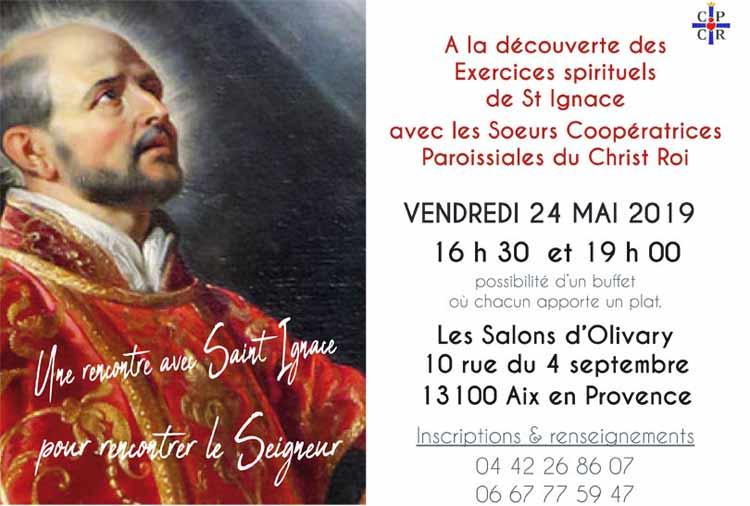 Flyer présentation des Exercices de St Ignace, rencontrer un saint qui nous mène au Seigneur