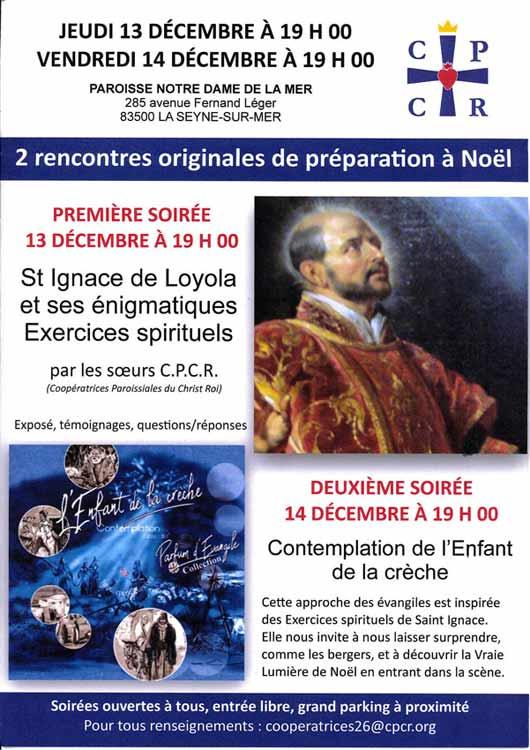 Contemplation Ignacienne en Paroisse et présentation des Exercices spirituels de St ignace par les Soeurs CPCR