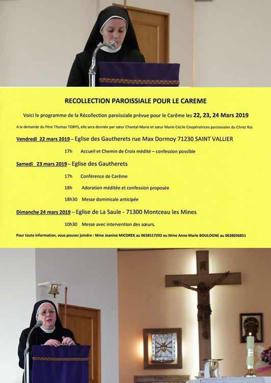 Mini retraite ignatienne en paroisse par les Soeurs Coopératrices paroissiales du Christ Roi
